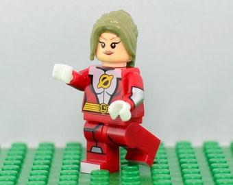 Saturn Girl Custom minifigure (Lego Compatible) DC Comics Legion of Super-Heroes JLA Superhero Imra Ardeen Christmas Gift Stocking Stuffer