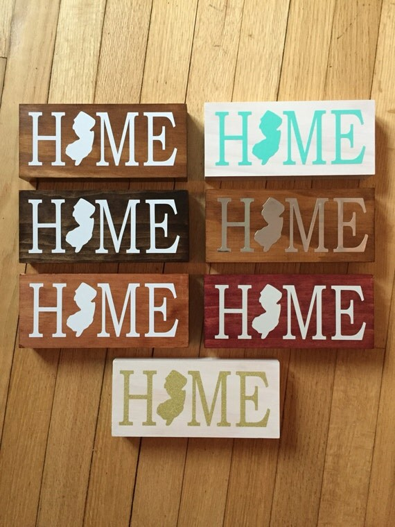New jersey home sign top seller state sign for New home sign