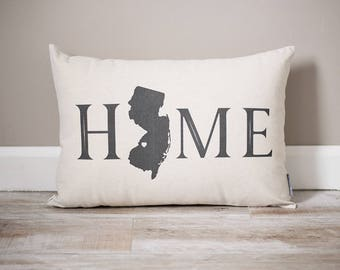 Home with State Pillow | Rustic Decor | Home Decor | Personalized State Pillow | Home Pillow | Dorm Decor | Housewarming Gift