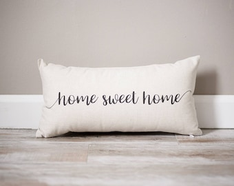 Home Sweet Home Pillow | Rustic Decor | Home Decor | Personalized State Pillow | Home Pillow | Personalized Pillow | Housewarming Gift