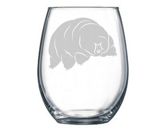 Tardigrade wine glass, Water Bear, biology gift, science puns, scientific gifts, gifts for scientists, science gift, biologist gift present