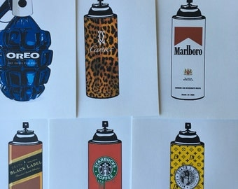 Starbucks vuitton starbucks cartier (8) art prints collection lithpgraph prints Sale!!