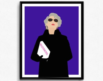Devil Wears Prada Poster-Miranda Priestly Poster, Feminist Movie Print, Minimalist Movie Poster