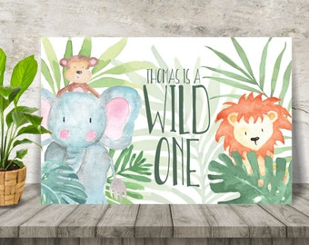 Baby Jungle Party Backdrop