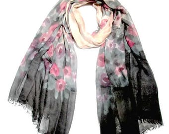 100% Modal Hand printed scarf
