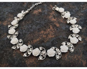 Diamond Rose Choker