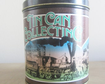 Vintage Tin Can Collecting Tin Can
