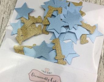 Confetti, table confetti, Birthday confetti, first birthday, party decorations, blue and gold