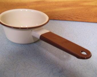 Vintage Enamelware Sauce Pan