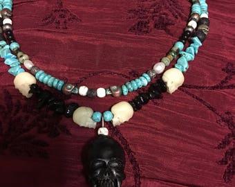 Mens Skull Necklace set!