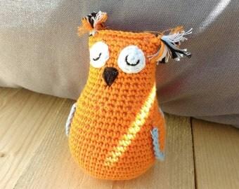 Crochet toy owl, baby gift, children gift, stuffed owl, handmade gift