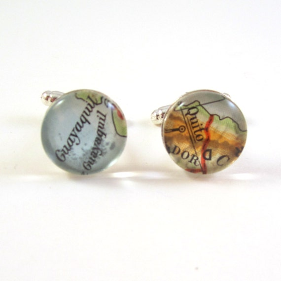 Map Cufflinks - South America