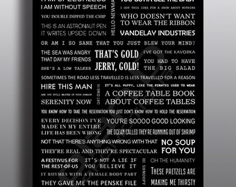A4 SEINFELD quotes poster