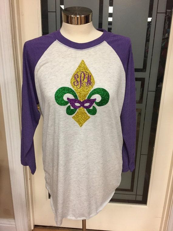 monogrammed mardi gras shirt glitter mardi gras shirt