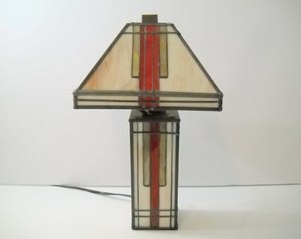 Stained Glass Mission Style Lamp