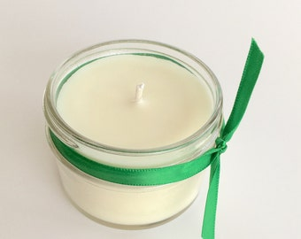 Spearmint Peppermint Candle - 4oz candle - Green Candle - Mint Candle - Scented Candle - Handmade Candle - Mint Lover - Bedroom Candle