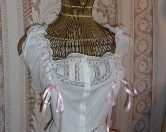 cache corset, blouse, lingerie, lace, embroidery and ribbons, shabby decor