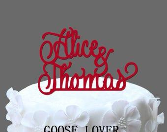 Monogram Wedding Cake Topper Initial Cake Topper, Acrylic Cake Topper, Cake Decoration