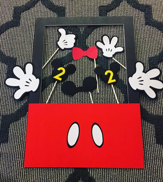 Mickey Mouse Birthday Party Photo Booth Props