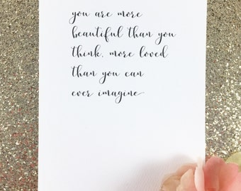 Dear future wife/Dear future husband card/Wedding day card to fiance/Love note/ Anniversary card/Valentine card