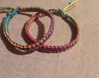 Rainbow Hemp Bracelets