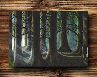 Dark Forest Original Painting