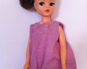 Sindy Night time clothes, lace tights, dress, negligé, 1980's pink, lilac outfit.
