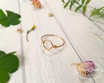 Karma, karma ring, gold ring, circle ring, handmade ring, made in Italy, 24k gold plated, high quality, not tarnish jewelry, minimal ring