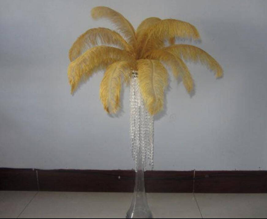 Ostrich feathers for wedding feather centerpiece decor