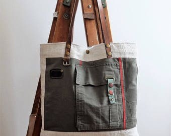 Hemp & canvas tote bag