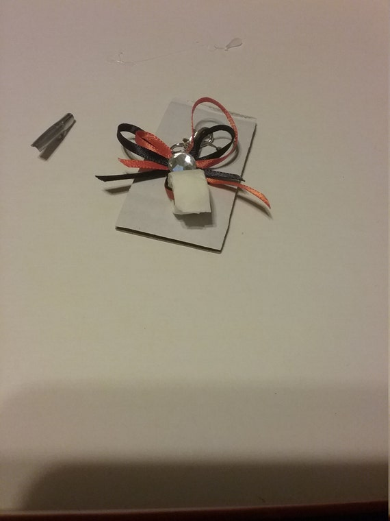 Tinier toilet paper charm/key ring
