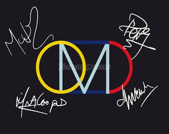 OMD pre signed photo print poster - 12x8 inches (30cm x 20cm) - Superb quality