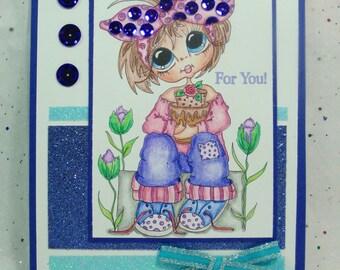 Unique Card for Girl, Birthday Card, Birthday Card for Girl, Unique Greeting Card, Unique Card, All Occasion Card,  Unique Cute Card, Card
