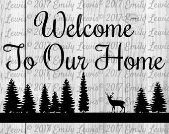 Welcome Sign - SVG - Cut Files -  SVGs - SVG Cut Files - Cut file - SVG Cut file - Svg Cuts - Svg Cut - cricut - Silhouette - Vinyl - Signs