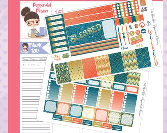 Mini H Planner Blessed Weekly Stickers #77