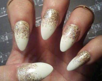 almond nails etsy