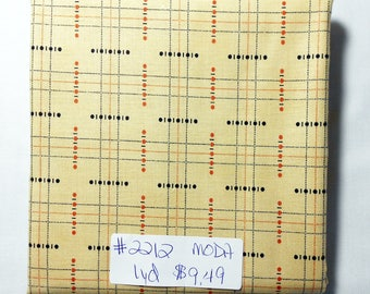 Fabric -1yd piece- MODA-Halloween Night by Polly Minick & Lauri Simpson/cream/black/orange/lines/cross hatch/dots/lines/plaid (#2212)