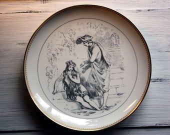 The Little Mermaid Hans Christian Andersen Fairy Tale Plate, Bing & Grondahl, Pencil Drawing Vilhelm Pedersen, Mermaid Collectible Gifts
