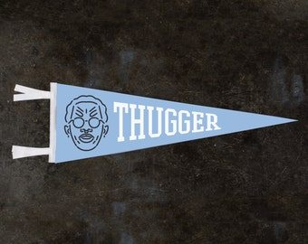 YOUNG THUG Thugger Vintage Style Wool Pennant 9x27 | Young Thug Gifts