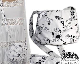 Handmade Upcycling vintage cute bag shoulder bag romance floral