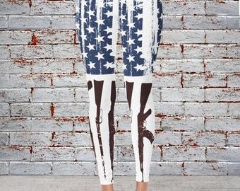 Gun Flag Ladies Leggings