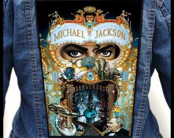MICHAEL JACKSON - Dangerous --- Backpatch Back Patch / King Of Pop Prince Madonna George Michael Diana Ross