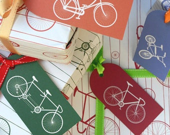 Bicycle wrapping paper and tags