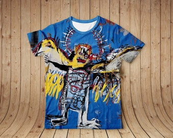 Fallen Angel  Jean Michel Basquiat paintings t-shirt, all sizes avalible
