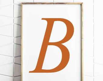 50% OFF SALE b decor, b print, b letter, b name art, letter decor