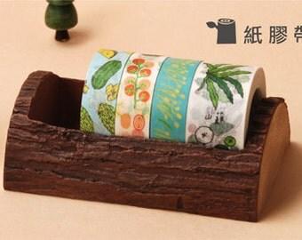 imitate wood Washi Tape Case / Masking Tape Organizer / Tape Holder