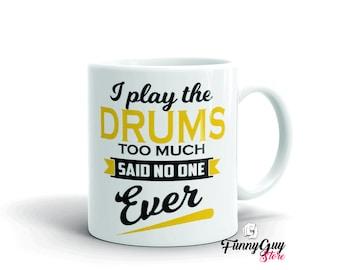 Drummer Mug Drummer Gift Funny Coffee Mug Music Lover Gift Music Teacher Gift Gift For Musician Gift For Him