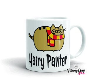 Cute Cat Mugs | Hairy Pawter | Cat Lady Coffee Mug | Coffee Cup Cat Gift | Cute Cat Mugs | Funny Cat Mug | Funny Gift For Her | Gift For Him