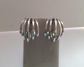 Sterling Silver Hoop Earrings, Sterling Hoop Earrings, Hoop Earrings, Sterling Earrings