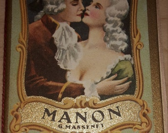 Manon Lescaut, an Opera by Italian brochure rare Barber pocket calendar 1950